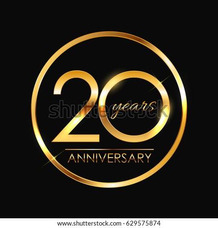 Template Logo 20 Years Anniversary Vector Stock Vector 2018