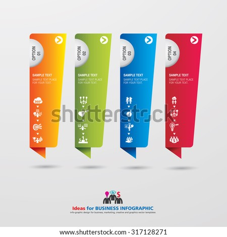Template modern info graphic design for business, marketing, creative, web and graphics concept