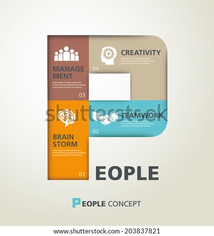 template modern info-graphic design, vector, template, business,people