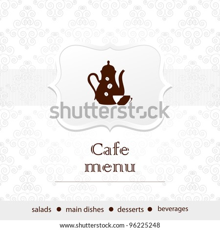 Template of a cafe menu - stock vector
