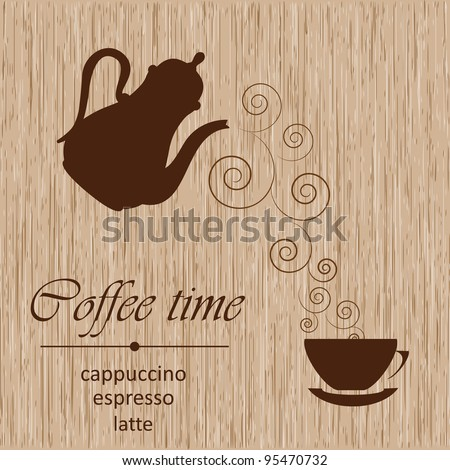 Template of a coffee menu - stock vector