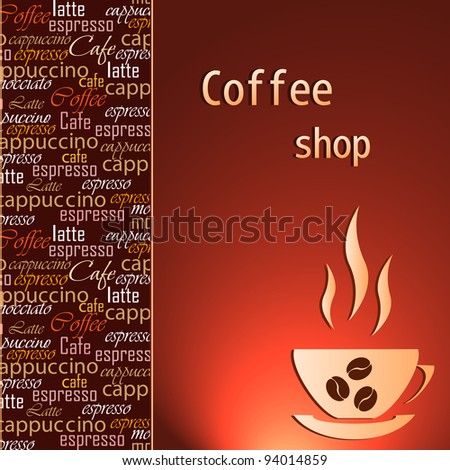 Template of a coffee shop - stock vector