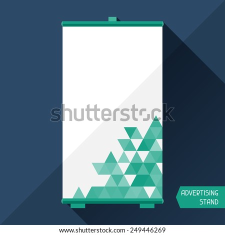 Template of advertising stand in flat design style. - stock vector