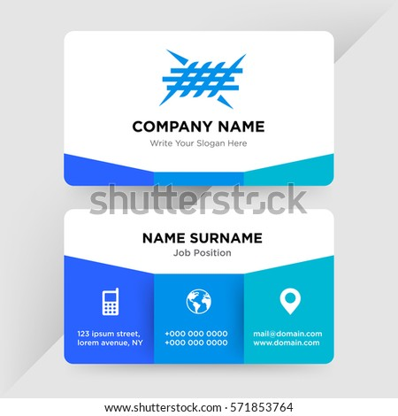 Template Business Card Defence Security Services Stock Vector HD ...