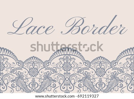template card gray lace border on stock vector 692119327 shutterstock