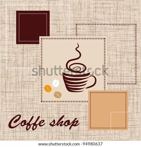 Template of coffee shop - stock vector