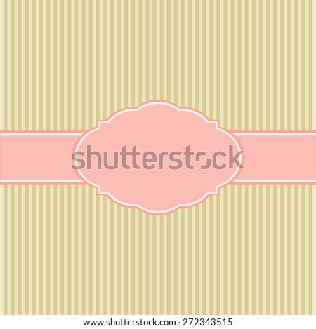Template of greeting card or the invitation. Vector illustration