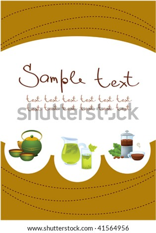 Template of menu for restaurant or coffee shop - stock vector