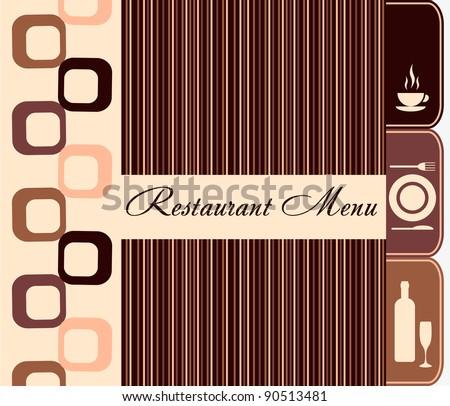 Template of restaurant menu - stock vector