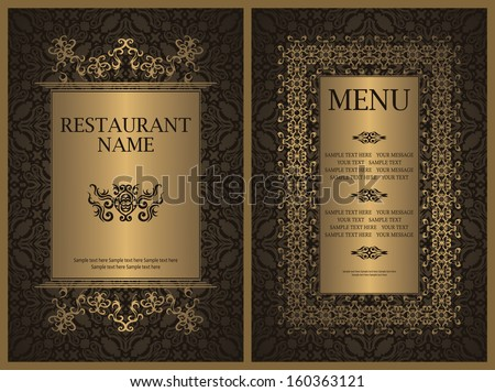 Template of restaurant menu. Luxury design   - stock vector