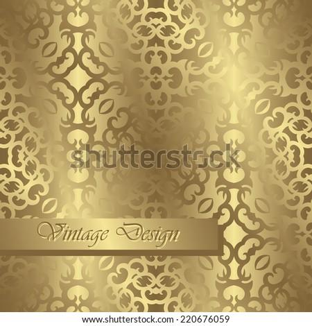Template of seamless wallpaper. Vintage design      - stock vector