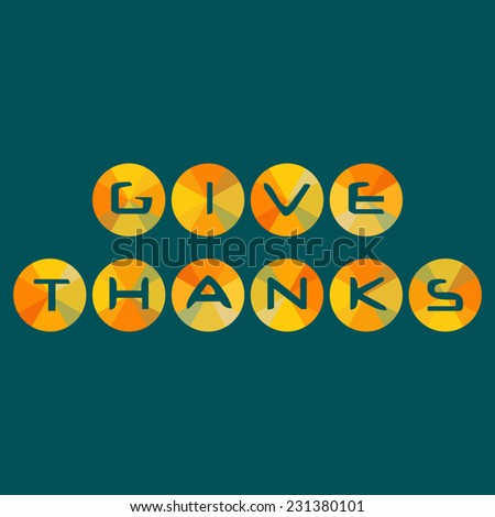 Template Thanksgiving Day Card Give Thanks Stock Vector 231380101 ...