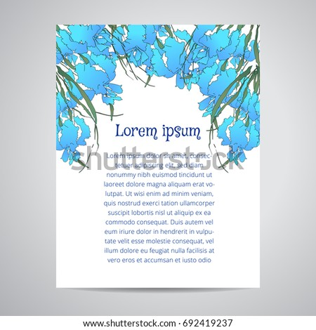 Template Vector Greeting Card Letter Format Stock Vector 692419237 ...