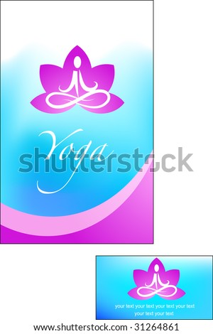 template of yoga / meditation brochure - 2 - stock vector