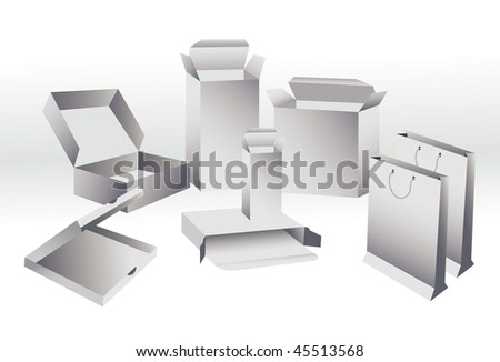 Template packing - stock vector