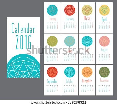 november 2014 calendar editable template page calendar 2016 editable vector stock vector 327261158