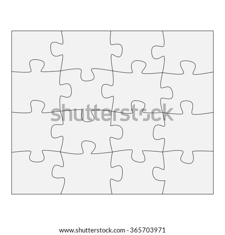 Template paper for thinking puzzles games. Business concept infographics. Puzzle pieces and jigsaw puzzle. Vector illustration EPS 10 - stock vector