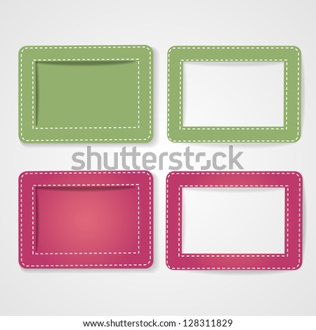 Template photo frames, vector illustration.EPS10. - stock vector
