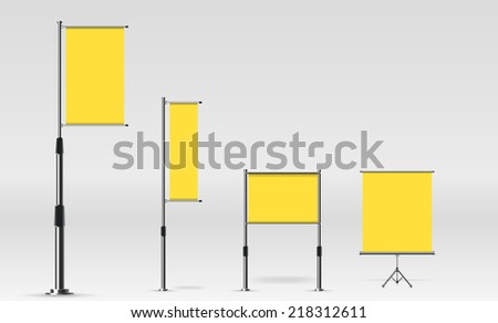 Template poster - stock vector
