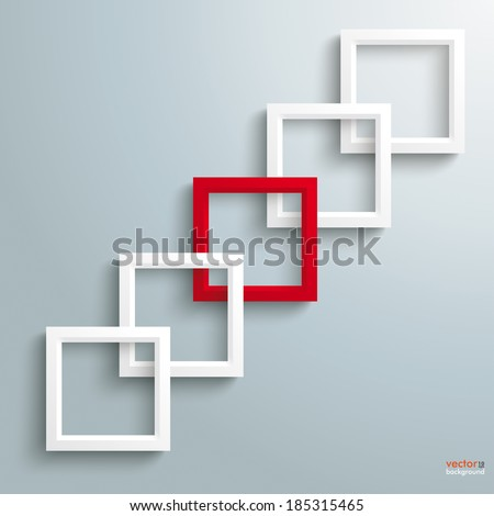 Template rectangle design on the grey background. Eps 10 vector file.