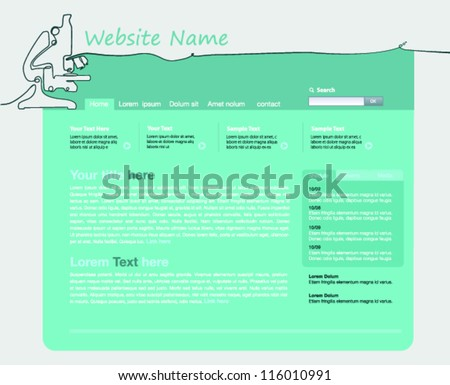 Template site design of microscope, corporate