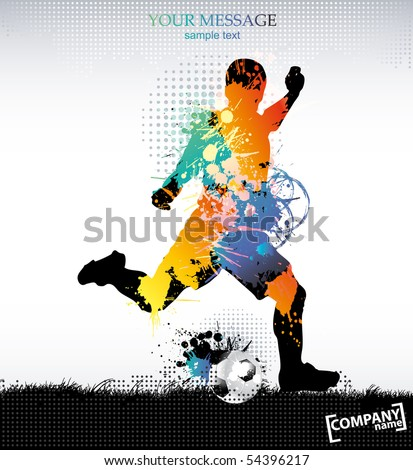 Template sports training . Vector illustration. - stock vector