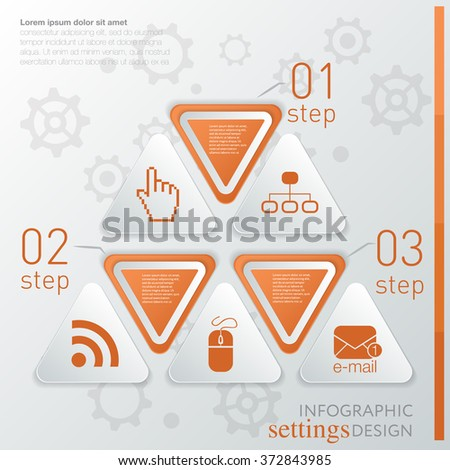 Template technology infographic or website layout. infographic elements with icon and steps