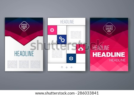 Template. Vector brochure design templates collection. Applications and Infographic Concept. Set of Flyer, Brochure Design Templates. - stock vector