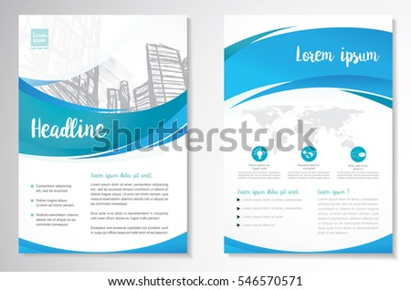 Brochure template layout cover design annual report magazine flyer - Template Vector Design Brochure Annual Report Stock Vector