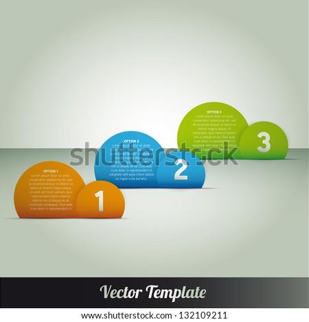 Template, vector eps10 illustration - stock vector