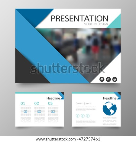 Design business brochure cover info banner stock vector for Horizontal brochure template