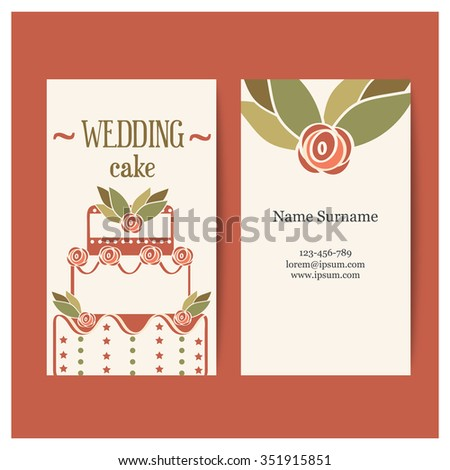 Template vintage business card chef pastry stock vector royalty template vintage business card for a chef or pastry chef perfect for the wedding manager colourmoves