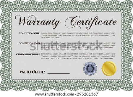 Template warranty certificate complex frame very stock vector hd template warranty certificate complex frame very customizable with background yadclub Gallery