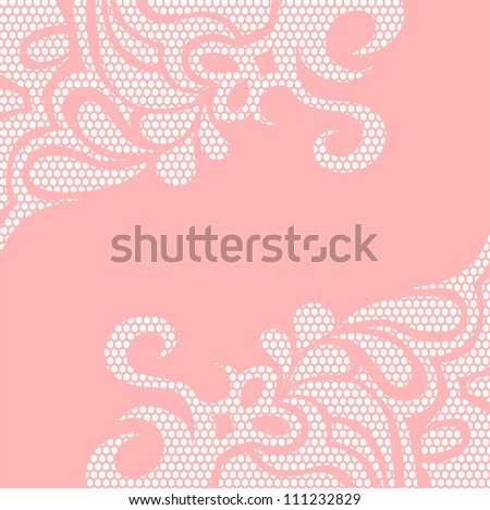 Template wave design for card - stock vector