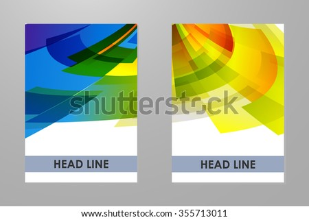 Template with colorful geometrical rainbow background. - stock vector