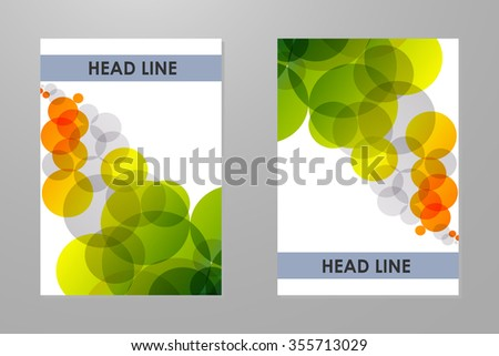 Template with colorful rainbow bubbles background. - stock vector