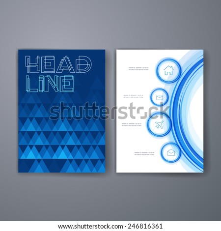 Templates. Applications and Infographic Concept. Flyer, Brochure Design Modern user interface (ux, ui) screen template for mobile smart phone or web site.  - stock vector