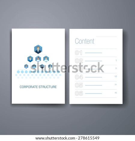 Templates. Corporate management structure hierarchy vector illustration. Human faces flat icons with sharp edges style. Honeycombs sells inter connected template for web site or brochure. - stock vector