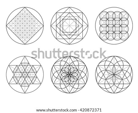 Templates Building Geometric Ornament Sacred Geometry Stock Vector ...