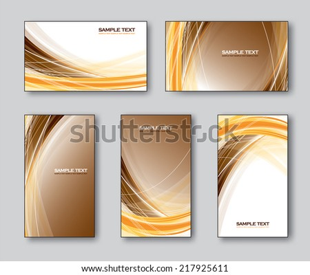 Templates for Business Cards or Gift Cards. - stock vector
