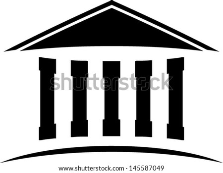temple icon isolated illustration - stock vector