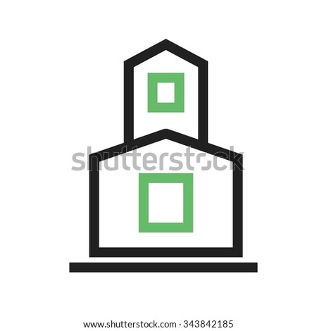 Temple, indian, buddhist icon vector image.Can also be used for building and landmarks . Suitable for mobile apps, web apps and print media. - stock vector