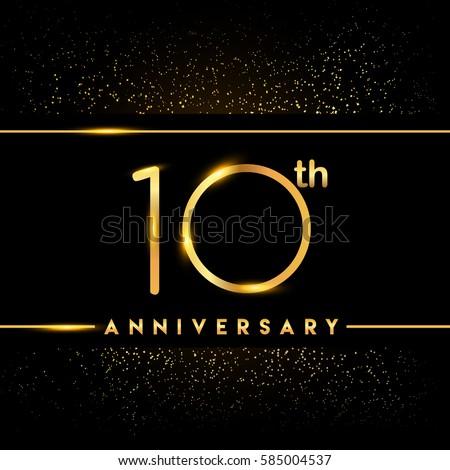 Ten Years Anniversary Celebration Logotype 10th Stock