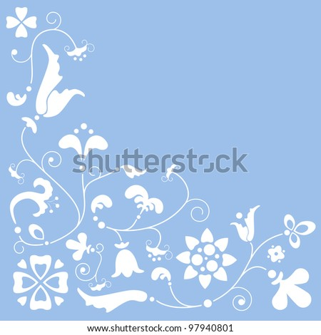tender and spring floral background