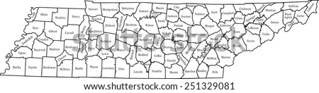 Tennessee Map Stock Images RoyaltyFree Images Vectors - Tennessee county map