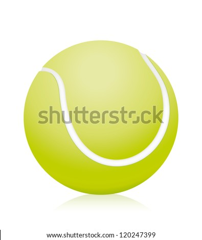 Tennis ball isolated. Vector illustration - stock vector