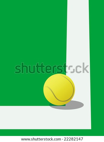 Tennis ball on the court - stock vector