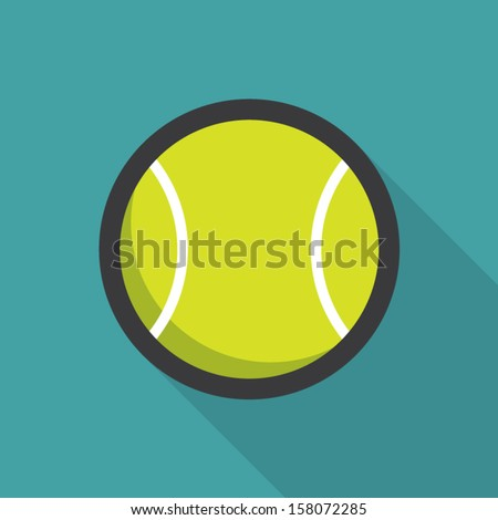 Tennis ball retro poster, sport and recreation concept - stock vector