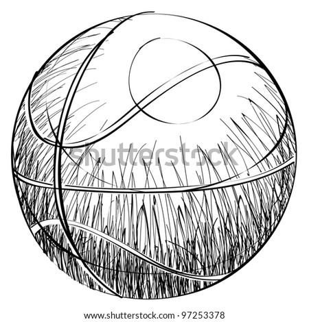 Tennis ball sketch cartoon vector illustration - stock vector