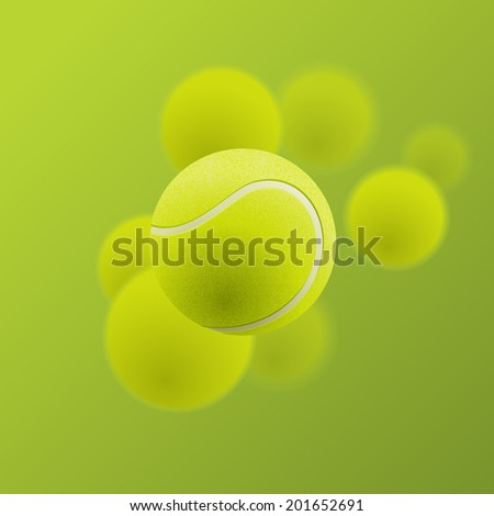 Tennis balls, eps10 vector - stock vector